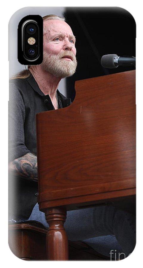 Musician IPhone X Case featuring the photograph Allman Brothers Band - Gregg Allman by Concert Photos