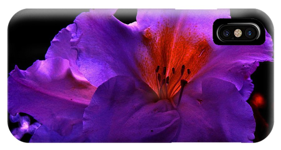 Flowers IPhone X Case featuring the digital art Alluring Azaleas by Raphael OLeary