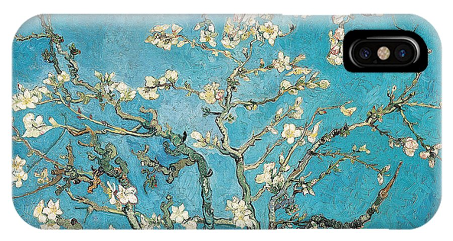 Van IPhone X Case featuring the painting Almond Branches In Bloom by Vincent van Gogh