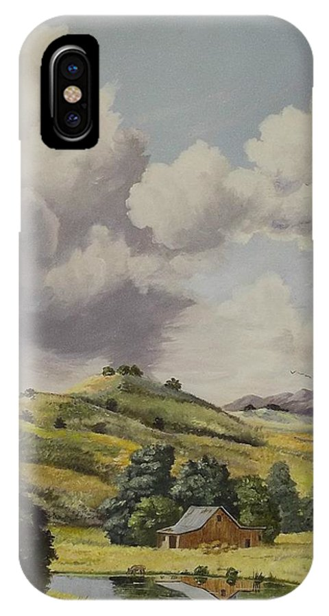 Bern IPhone X Case featuring the painting Almost Harvest Time by Wanda Dansereau