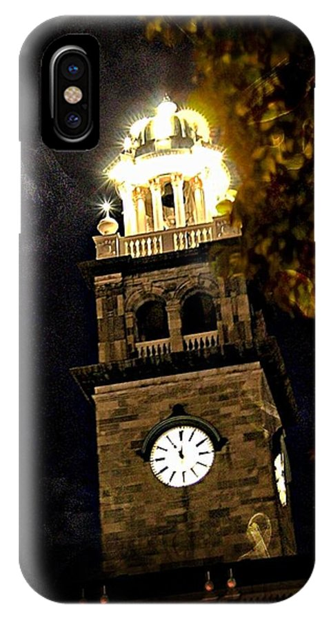 Courthouse IPhone X Case featuring the photograph Almost Midnight by Larisa Porter