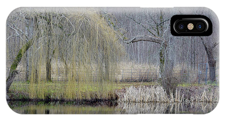 Pond Reflections IPhone X Case featuring the photograph Almost Spring by Marilyn Wilson