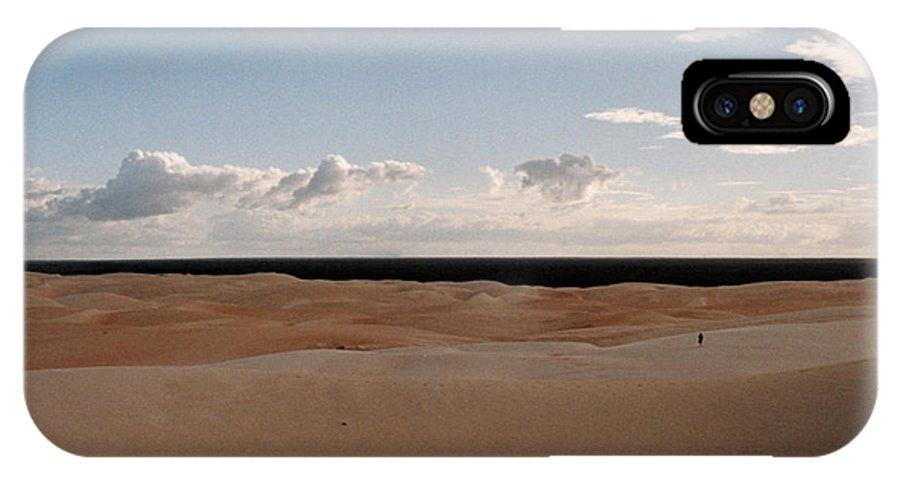 Areia IPhone X Case featuring the photograph Alone by Van Souza
