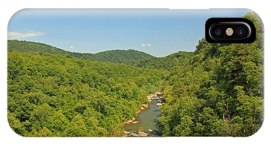Roanoke IPhone X Case featuring the photograph Along the Blue Ridge Parkway - Roanoke River by Suzanne Gaff