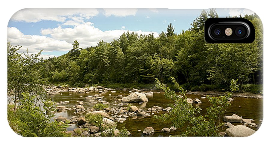 River Adirondack IPhone X Case featuring the photograph Along The River by Eric Swan