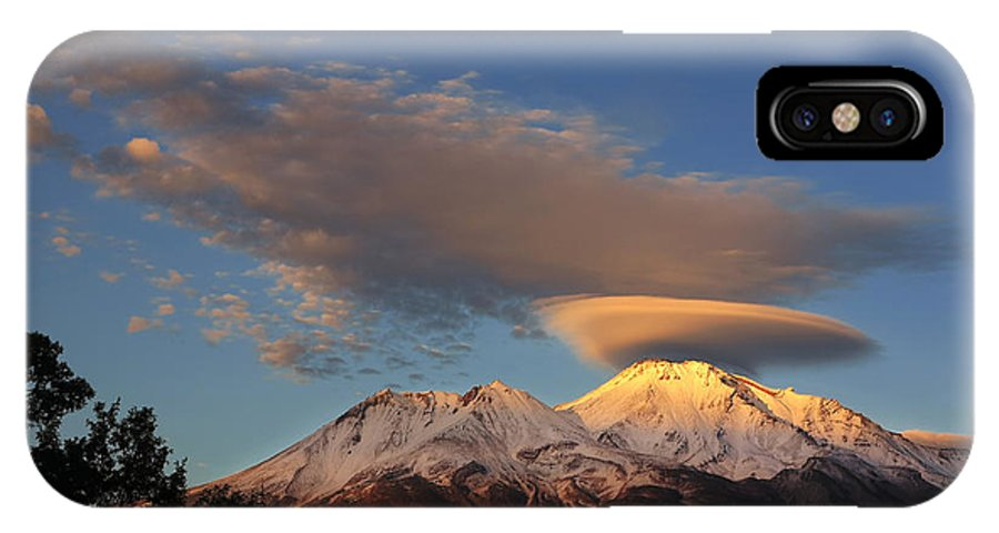 Black And White IPhone X Case featuring the photograph Alpenglow Lenticular by Jeff Leland