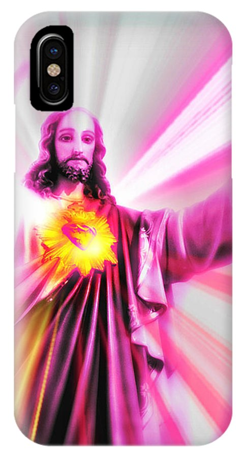 Jesus IPhone X Case featuring the photograph The Alpha And The Omega by Aurelio Zucco