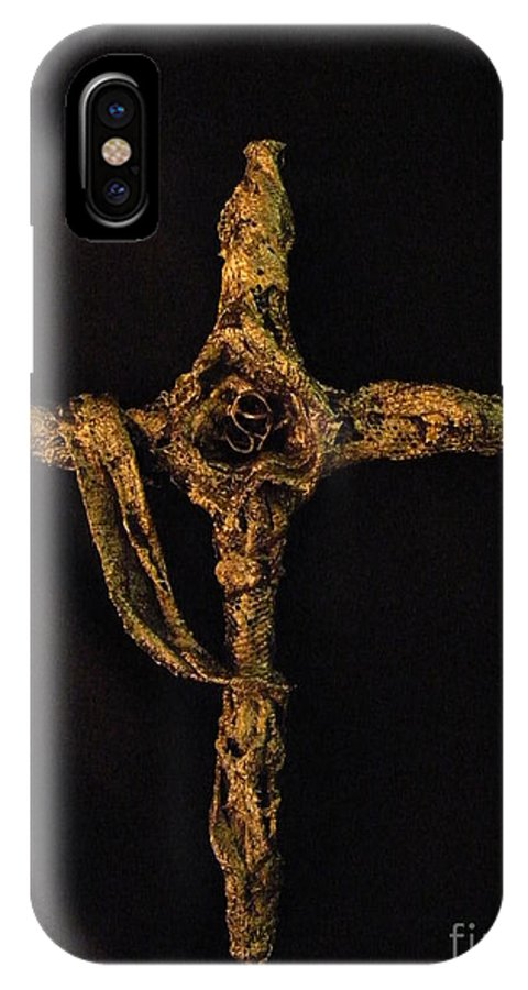 Christ IPhone Case featuring the Alpha Omega by Jan Reid