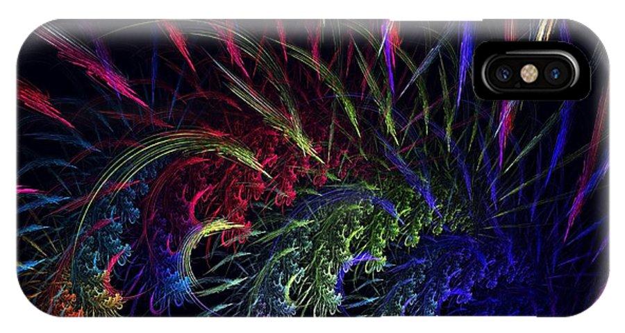 Apophysis IPhone X Case featuring the digital art Alpha Persei by Kim Sy Ok