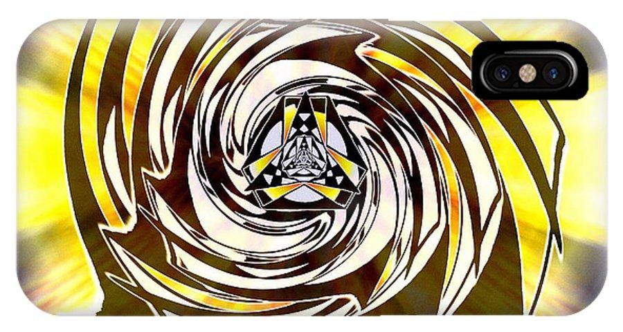 Sacredlife Mandalas IPhone X Case featuring the drawing Alpha Starship One by Derek Gedney