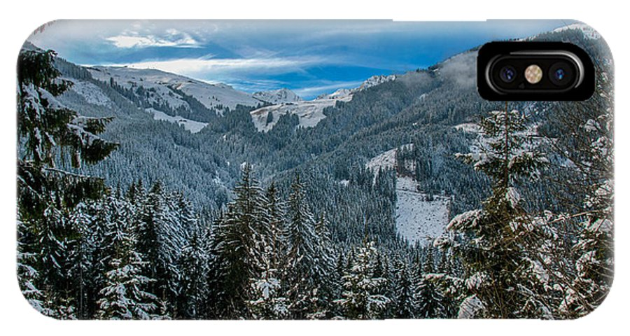 Winter IPhone X Case featuring the photograph Alpine Escape by Jim Southwell