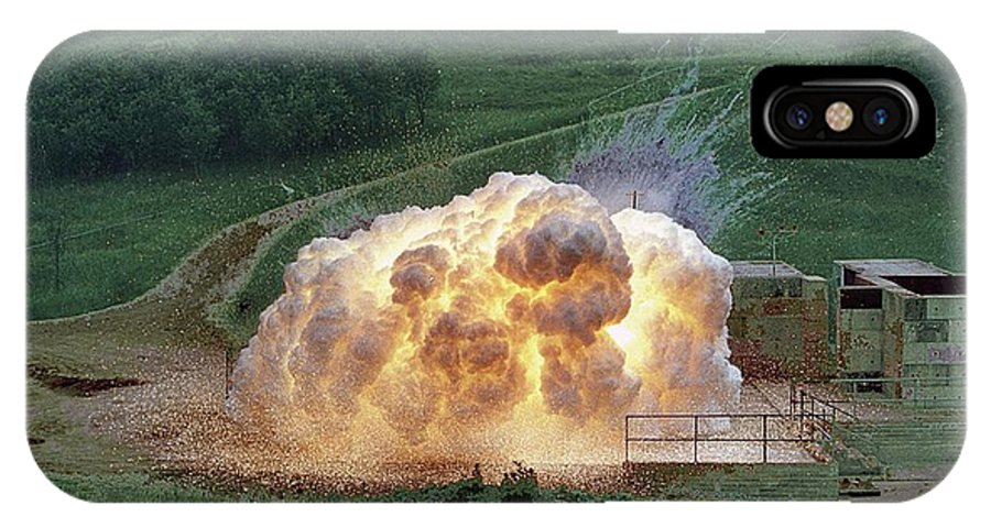 Explosion IPhone X Case featuring the photograph Aluminium Powder Explosion by Crown Copyright/health & Safety Laboratory Science Photo Library