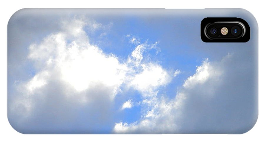 Sky IPhone X Case featuring the photograph Always Blue by Lew Davis
