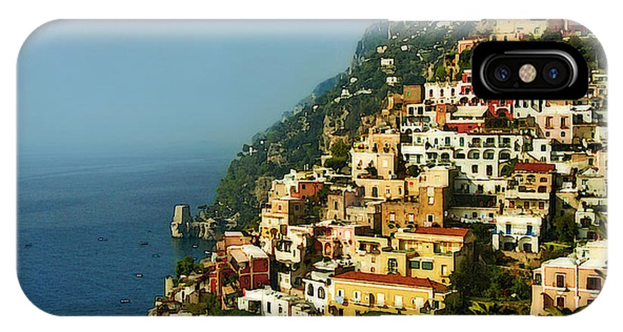 Amalfi IPhone X / XS Case featuring the photograph Amalfi Coast Hillside II by Steven Sparks
