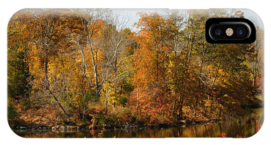 Autumn IPhone X Case featuring the photograph Amber Days by Living Color Photography Lorraine Lynch