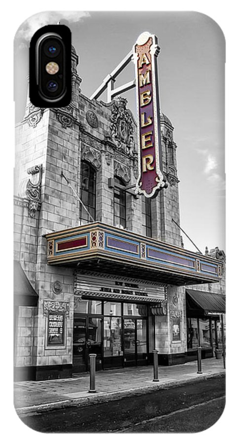 Ambler IPhone X Case featuring the photograph Ambler Theater In Ambler Pennsylvania by Bill Cannon