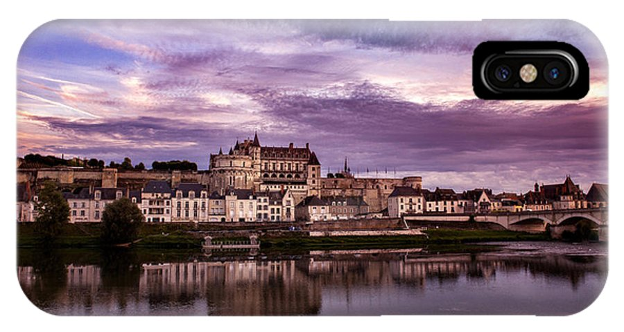 Landscape IPhone X Case featuring the photograph Amboise Castle Loire Valley France by Audra Mitchell