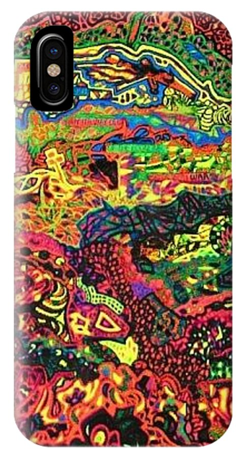 12262012 IPhone X Case featuring the drawing American Abstract by Jonathon Hansen