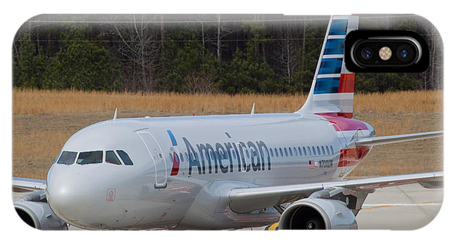 IPhone X Case featuring the photograph American Airlines A319 by Richard Jack-James