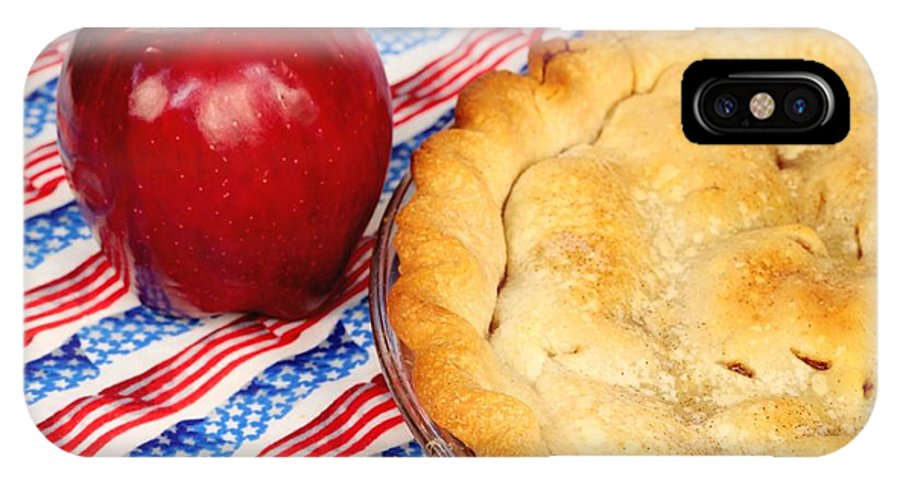 Pie IPhone X Case featuring the photograph American As Apple Pie by Pattie Calfy