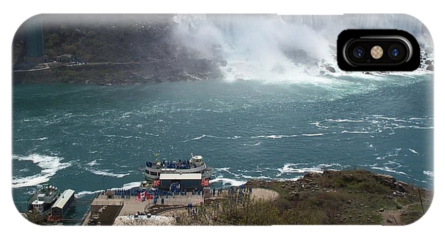 Niagara Falls IPhone Case featuring the photograph American Falls From Above The Maid by Barbara McDevitt