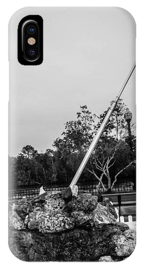 American Flag IPhone X Case featuring the photograph American Flag Monument by Jon Cody