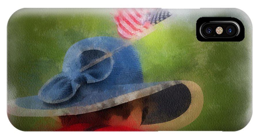 Flag IPhone X Case featuring the photograph American Flag Photo Art 05 by Thomas Woolworth