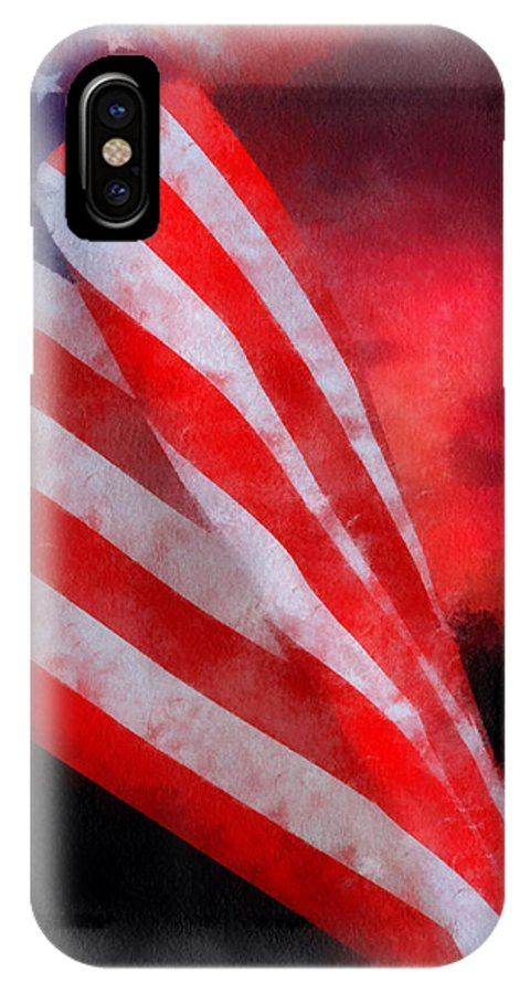 Flag IPhone X Case featuring the photograph American Flag Photo Art 07 by Thomas Woolworth