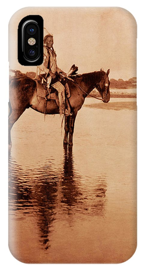 Native American Photos IPhone X Case featuring the photograph American Indian Chief Cheyenne by Cat Whipple