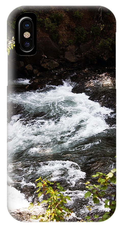 Washington IPhone X Case featuring the photograph American River's Levels by Edward Hawkins II