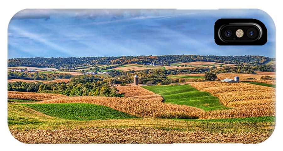 Iowa IPhone X Case featuring the photograph America's Heartland by Tom Weisbrook