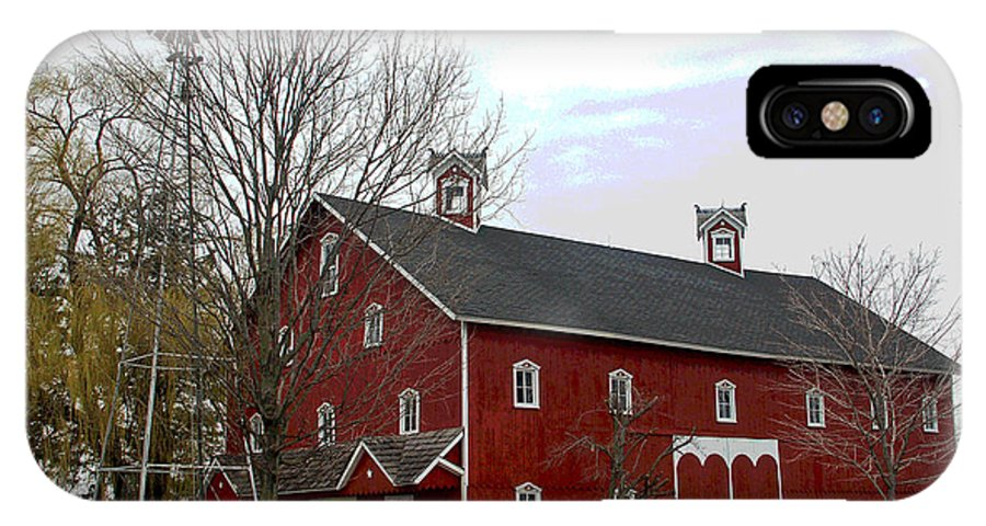 Amish Barn IPhone Case featuring the photograph Amish Barn And Wind Mill - Allen County Indiana by Suzanne Gaff