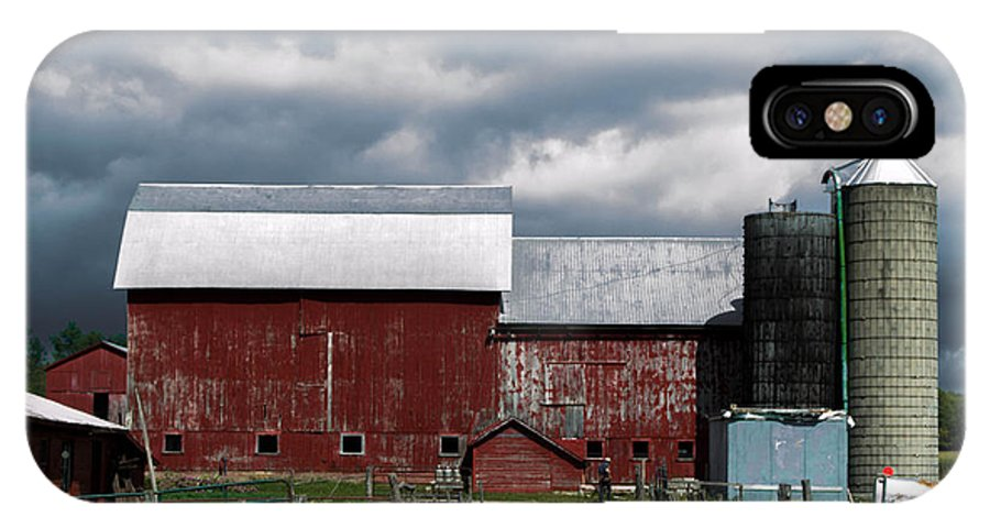Amish IPhone X Case featuring the photograph Amish Farm by Anthony Thomas