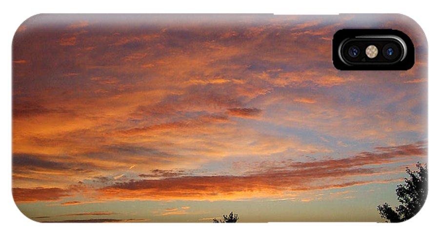Sunset IPhone X Case featuring the photograph Ams 171 by Scott B Bennett
