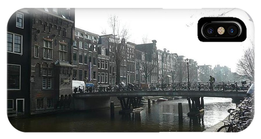 Amsterdam IPhone X Case featuring the photograph Amsterdam Canal II by J Shawn Conrey