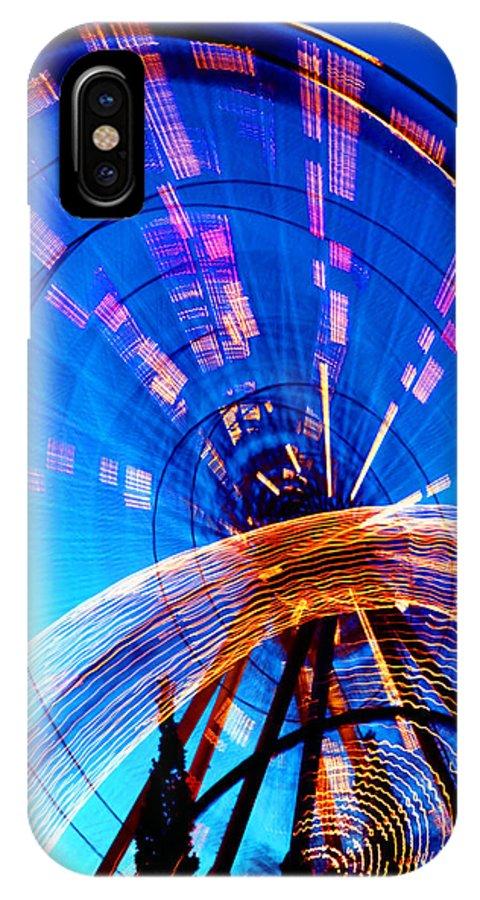 Amusement Park IPhone Case featuring the photograph Amusement Park Rides 1 by Steve Ohlsen