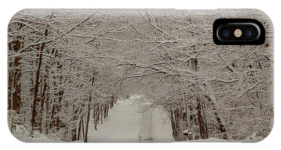 Blizzard IPhone X Case featuring the photograph An American Quilt by Carol Estes