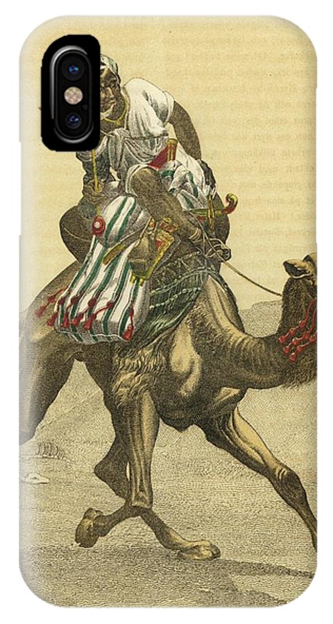 Camel IPhone X Case featuring the drawing An Arab On His Camel, Riding by Mary Evans Picture Library