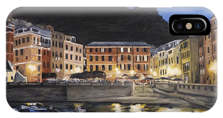 Vernazza IPhone X Case featuring the painting An Evening In Vernazza by Jennifer Viola
