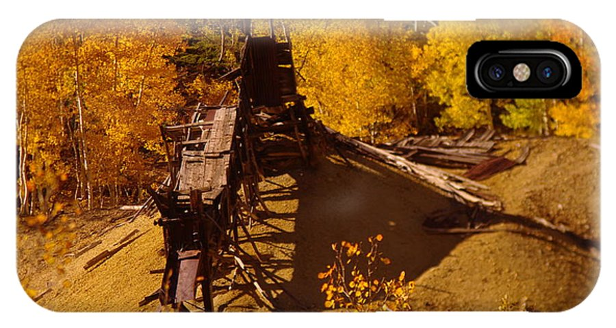 Mines IPhone X Case featuring the photograph An Old Colorado Mine In Autumn by Jeff Swan