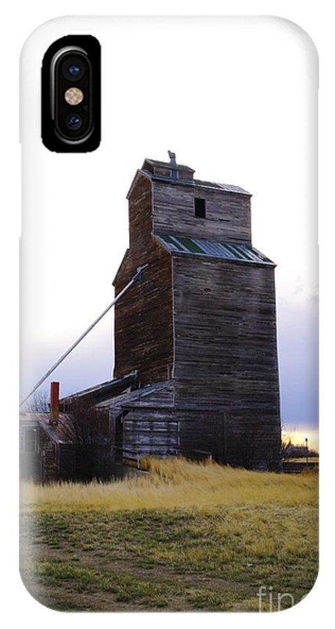 Grain Elevators IPhone X Case featuring the photograph An Old Grain Elevator Off Highway Two In Montana by Jeff Swan