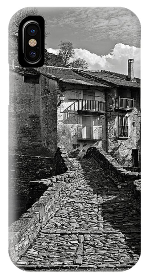 Puente IPhone X Case featuring the photograph An Old Spanish Town Puente De Montanana by RicardMN Photography
