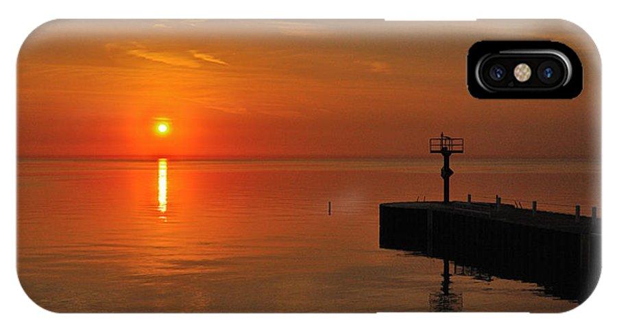 Orange IPhone X Case featuring the photograph An Orange Sunrise by Jose Sandoval