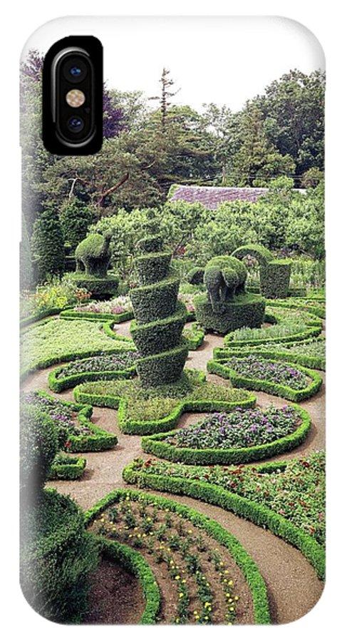 Exterior IPhone X Case featuring the photograph An Ornamental Garden by Tom Leonard