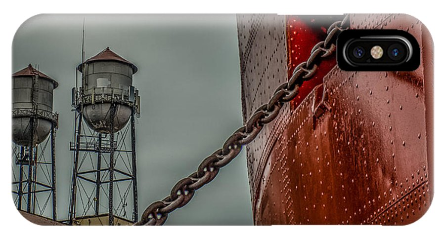 Ss William A Irvin IPhone X Case featuring the photograph Anchor Chain by Paul Freidlund