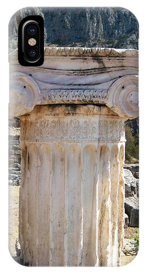 Athens IPhone X Case featuring the photograph Ancient Delphi 12 by Teresa Ruiz