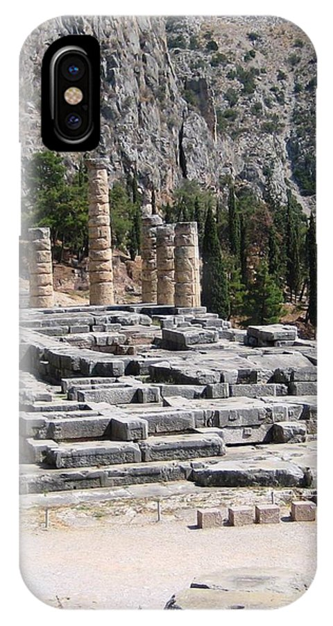 Athens IPhone X Case featuring the photograph Ancient Delphi 23 by Teresa Ruiz