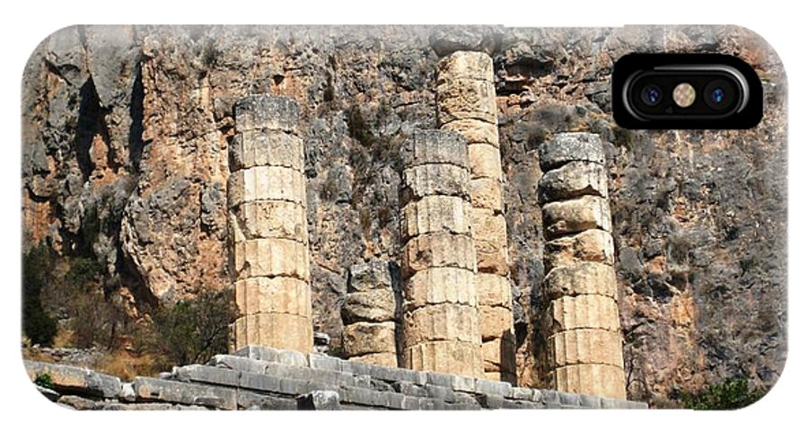 Athens IPhone X Case featuring the photograph Ancient Delphi 8 by Teresa Ruiz