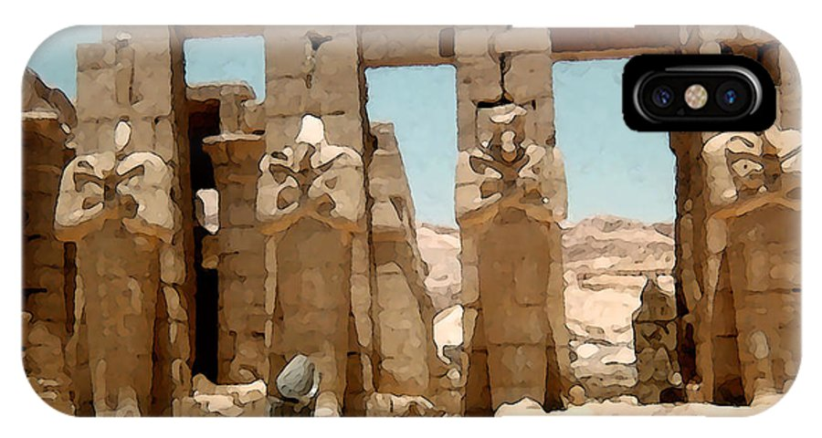 Art IPhone X Case featuring the photograph Ancient Egypt by Piero Lucia