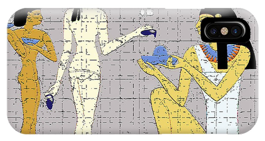 Egypt IPhone X Case featuring the digital art Ancient Egyptian Princess by Genevieve Esson